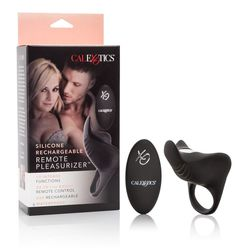 SILICONE RECHARGEABLE REMOTE PLEASURIZER COCK RING