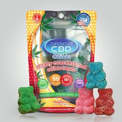 EXPERIENCE CBD 60MG SOUR GUMMY BEARS 4PC (NET)
