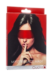 MYSTERE LACE MASK RED