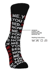 SEXY SOCKS YOU.ME.BED.NOW. 42-46