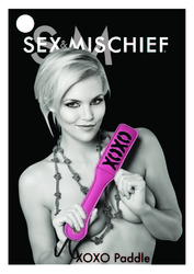 SEX & MISCHIEF BLUSH XOXO PINK/BLACK PADDLE