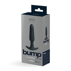 VEDO BUMP RECHARGEABLE ANAL VIBE JUST BLACK