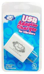 (D) CLOUD 9 USB 1 PORT ADAPTER CHARGER FOR VIBRATORS (NET)