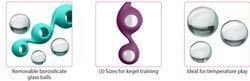 CLOUD 9 HEALTH & WELLNESS BOROSILICATE KEGEL TRAINING SET - PLUM