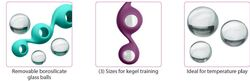 CLOUD 9 HEALTH & WELLNESS BOROSILICATE KEGEL TRAINING SET - TEAL