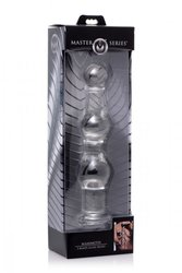 MASTER SERIES MAMMOTH 3 BUMPS GLASS DILDO