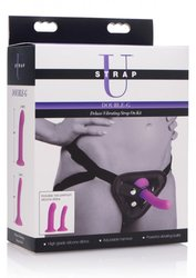 STRAP U DOUBLE-G DELUXE VIBRATING SILICONE STRAP ON KIT (Out Mid Aug)