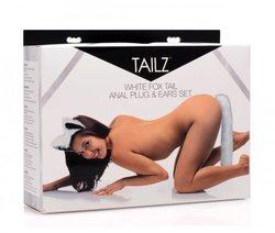 TAILZ WHITE FOX TAIL & EARS SET