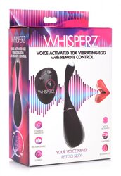 WHISPERZ VOICE ACTIVATED 10X VIBRATING EGG W/ REMOTE