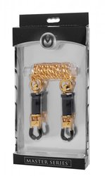 MASTER SERIES CAPTURE CLAMPS BRASS BARREL CLAMPS W/ CHAIN