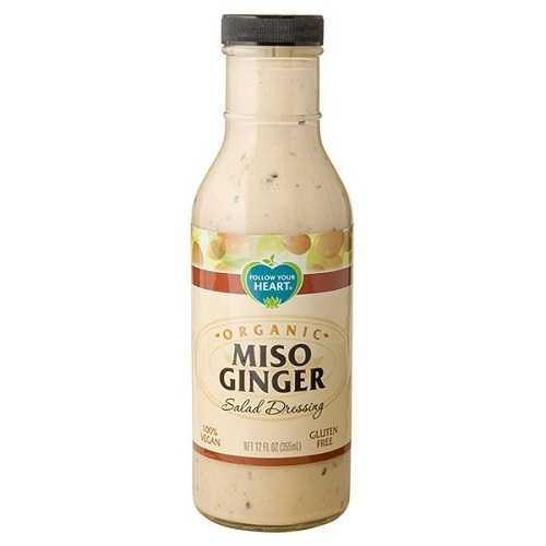 Follow Your Heart Organic Miso Ginger Dressing (6x12 Oz)