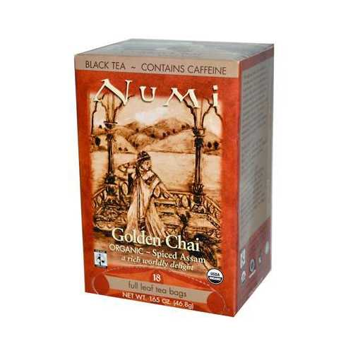 Numi Tea Golden Chai Black Tea (6x18 Bag)