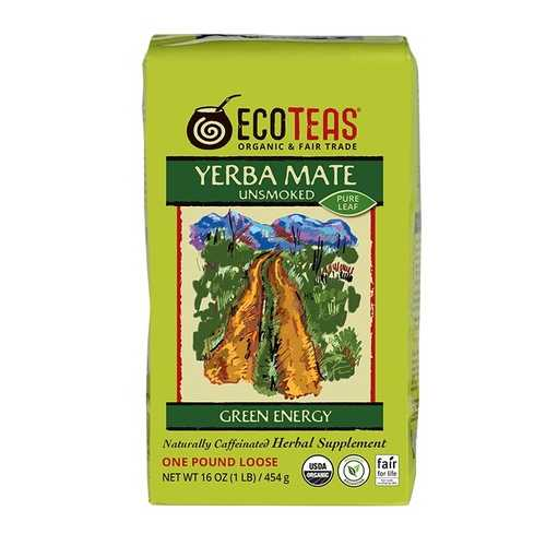 ECOTEAS Yerba Mate Pure Leaf Loose Tea (6x1LB)