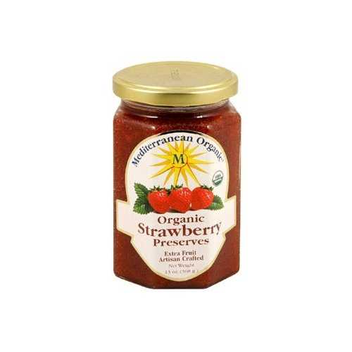 Mediterranean Organics Strawberry Preserves (12x13 Oz)