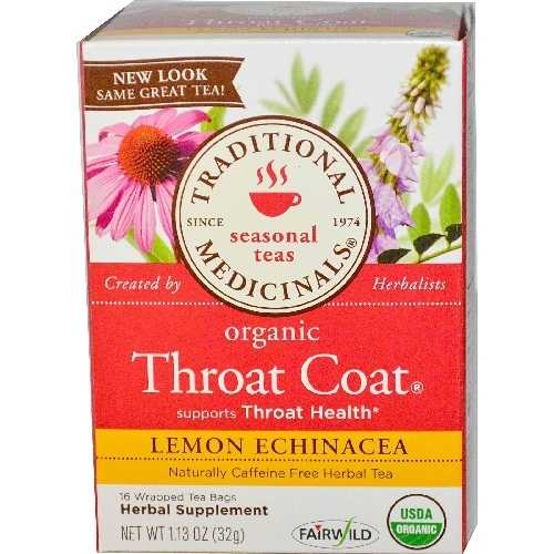 Traditional Medicinals Lemon Echinacea Throat Herb Tea (6x16 Bag)