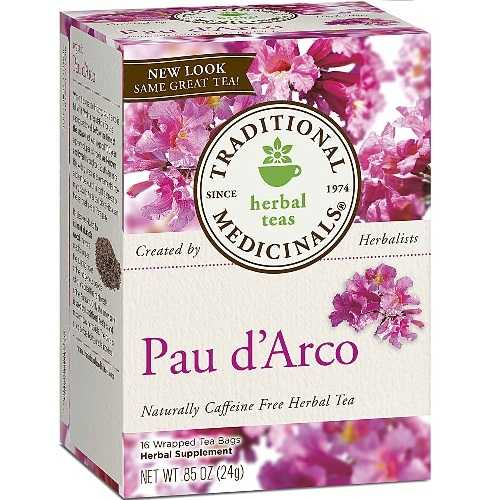Traditional Medicinals Pau D'arco Herb Tea (6x16 Bag)