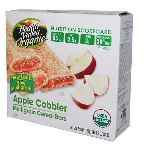 Health Valley Apple Cobbler Cereal Bar (6x7.9 Oz)