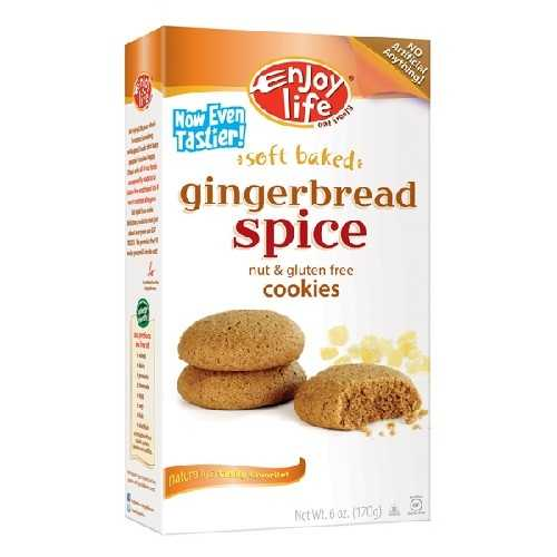 Enjoy Life Gingerbread Spice cookie Gluten Free (6x6 Oz)