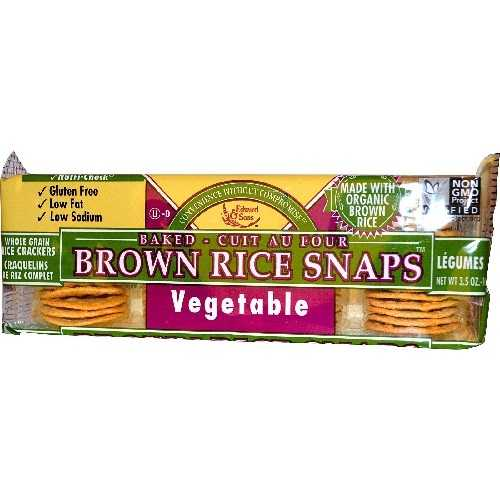 Edward & Sons vegetable Brown Rice Snaps (12x3.5 Oz)