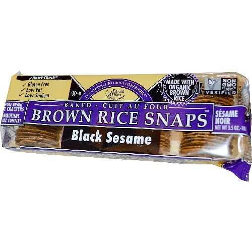 Edward & Sons Black Sesame Brown Rice Snaps (12x3.5 Oz)