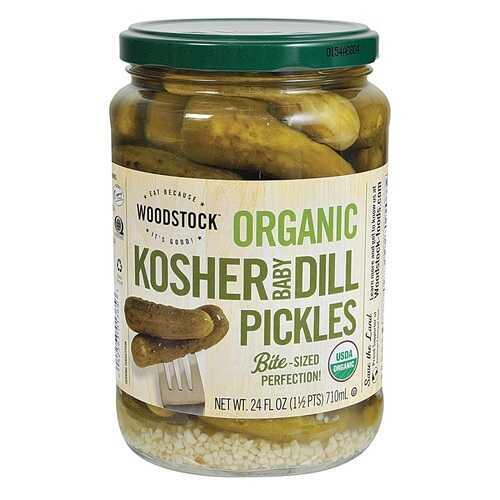 Woodstock Whole Koshr Dill Pickles (6x24 Oz)