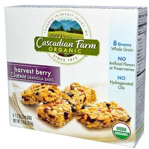 Cascadian Farms Harvest Berry Granola Bar (12x7.4 Oz)