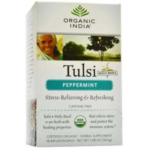 India Peppermint Tulsi Tea (6x18 CT)