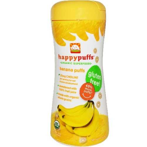 Happy Baby Banana Puffs (6x2.1Oz)