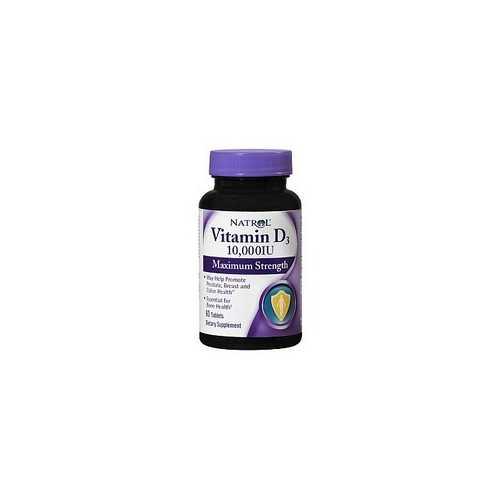 Natrol Vitamin D3, 10,000 IU (60 TAB)
