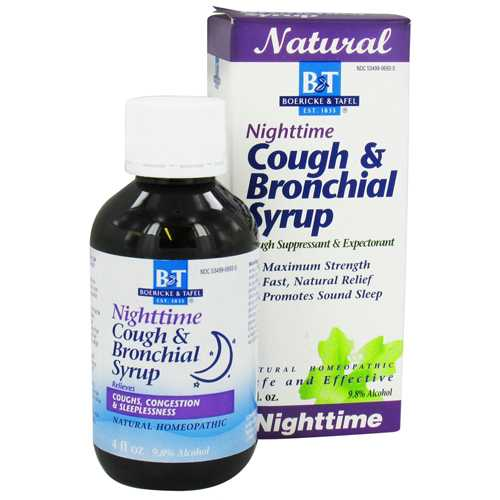 Boericke & Tafel Nighttime Cough & Bronchial Syrup (1x4 Oz)