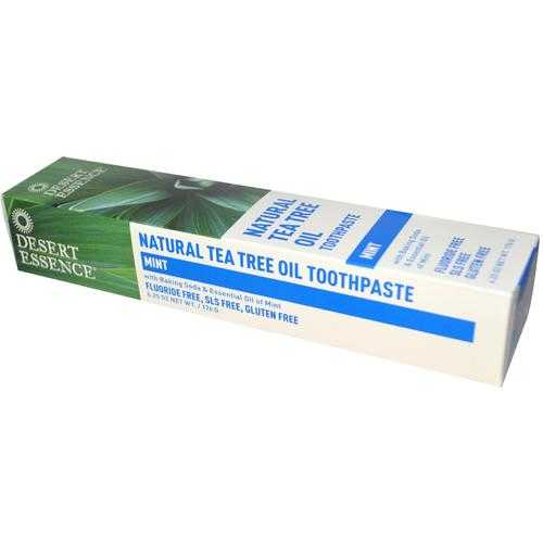Desert Essence Tea Tree Toothpaste With Mint (1x 6.25 Oz)
