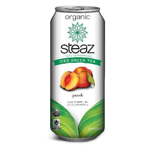 Steaz Energy Peach Iced Green Tea (12x16 Oz)