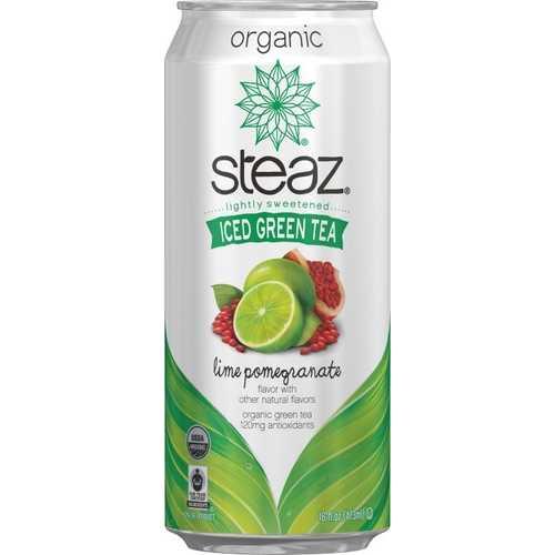 Steaz Energy Lime & Pomegranate Iced Green Tea (12x16 Oz)