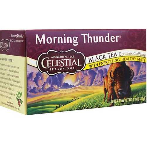 Celestial Seasonings Morning Thunder Herb Tea (6x20bag)