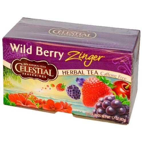 Celestial Seasonings Wild Berry Zinger Herb Tea (6x20bag)