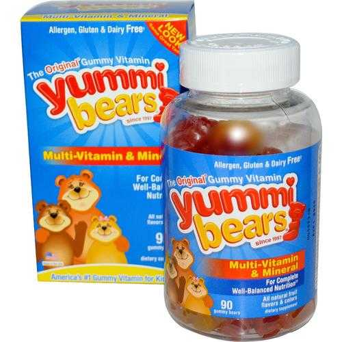 Hero Nutritionals Yummi Bears Multi Vitamin & Mineral (1x90 BEARS)