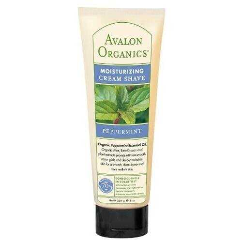Avalon Peppermint Moist Shave Cream (1x8 Oz)