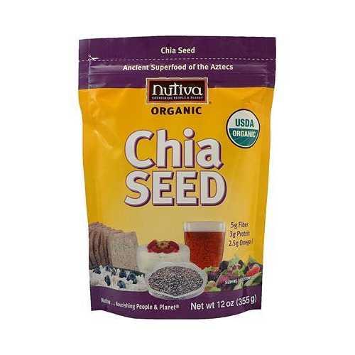 Nutiva Organic Chia Seeds (1x12 Oz)