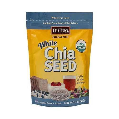 Nutiva Organic White Chia Seeds (1x12 Oz)