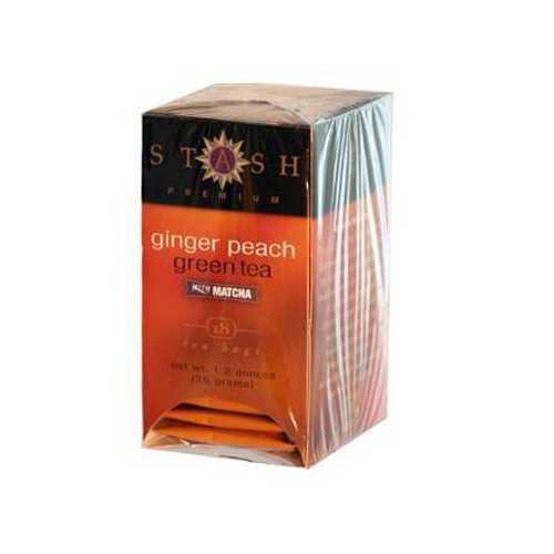 Stash Tea Ginger Peach Green Tea (6x18 Bag)