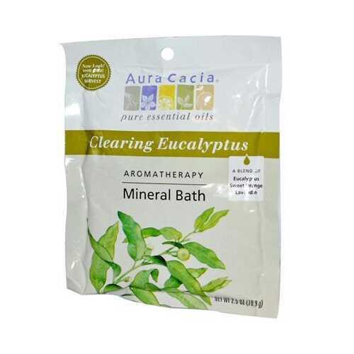 Aura Cacia Eucalyptus Harvest Mineral Bath Salts (6x2.5 Oz)