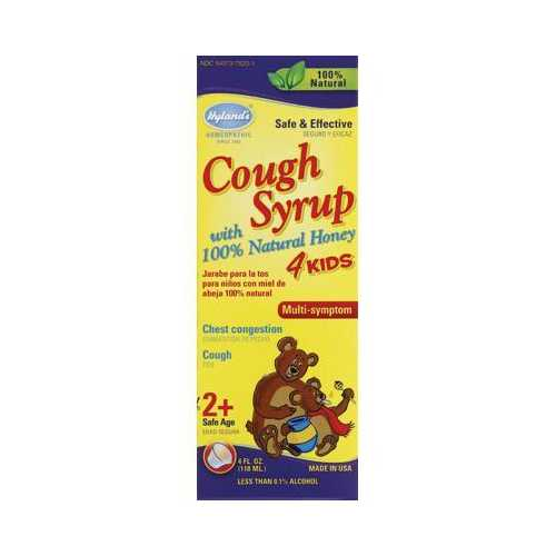 Hyland's Homeopathic Cough Syrup with Honey 4Kids (1x4 Oz)