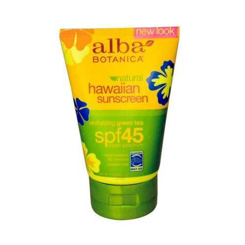 Alba Botanica Sunscreen Green Tea Spf 45 (1x4 Oz)