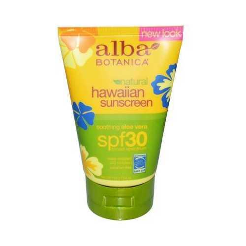 Alba Botanica Hawaiian Sun Care Aloe Vera Sunblock, SPF 30 (1x4 Oz)