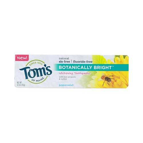 Tom's Of Maine Botanically Bright Peppermint Toothpaste (6x4.7 Oz)