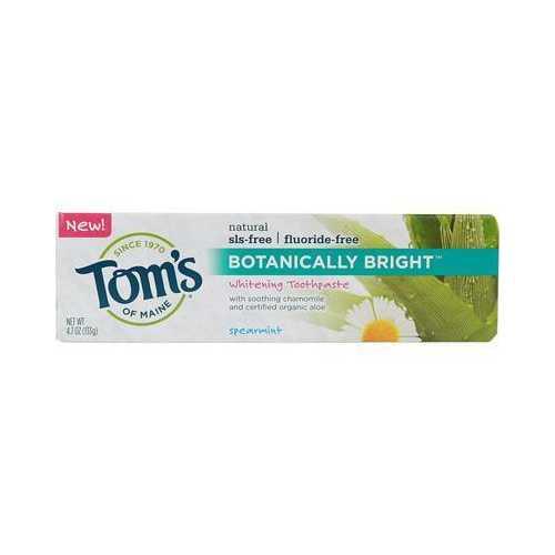 Tom's Of Maine Botanically Bright Spearmint Toothpaste (6x4.7 Oz)