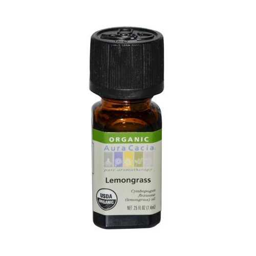 Aura Cacia Organic Lemongrass Essential Oil (1x.25 Oz)