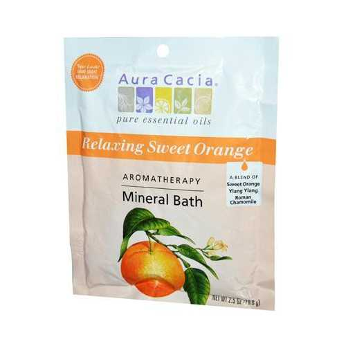 Aura Cacia Mineral Bath Relaxing Sweet Orange (6x2.5 Oz)