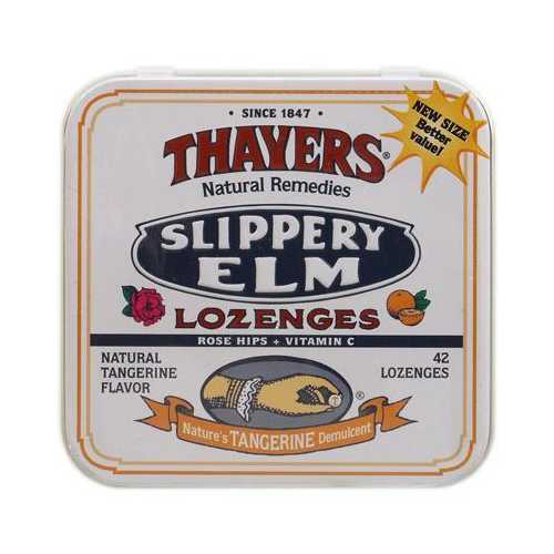 Thayer's Rose Hips Tangerine Slippery Elm LOzenges (10x42 ct)
