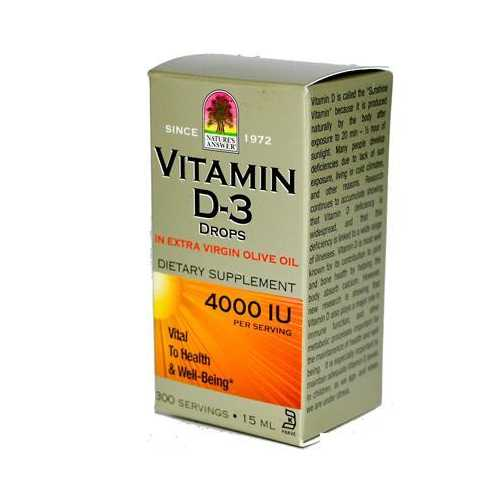 Nature's Answer Liquid Vitamin D-3 4000Iu (1x.5 Oz)